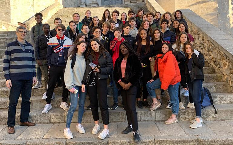 Alumnes de 3r ESO fan de guies turístics per Girona