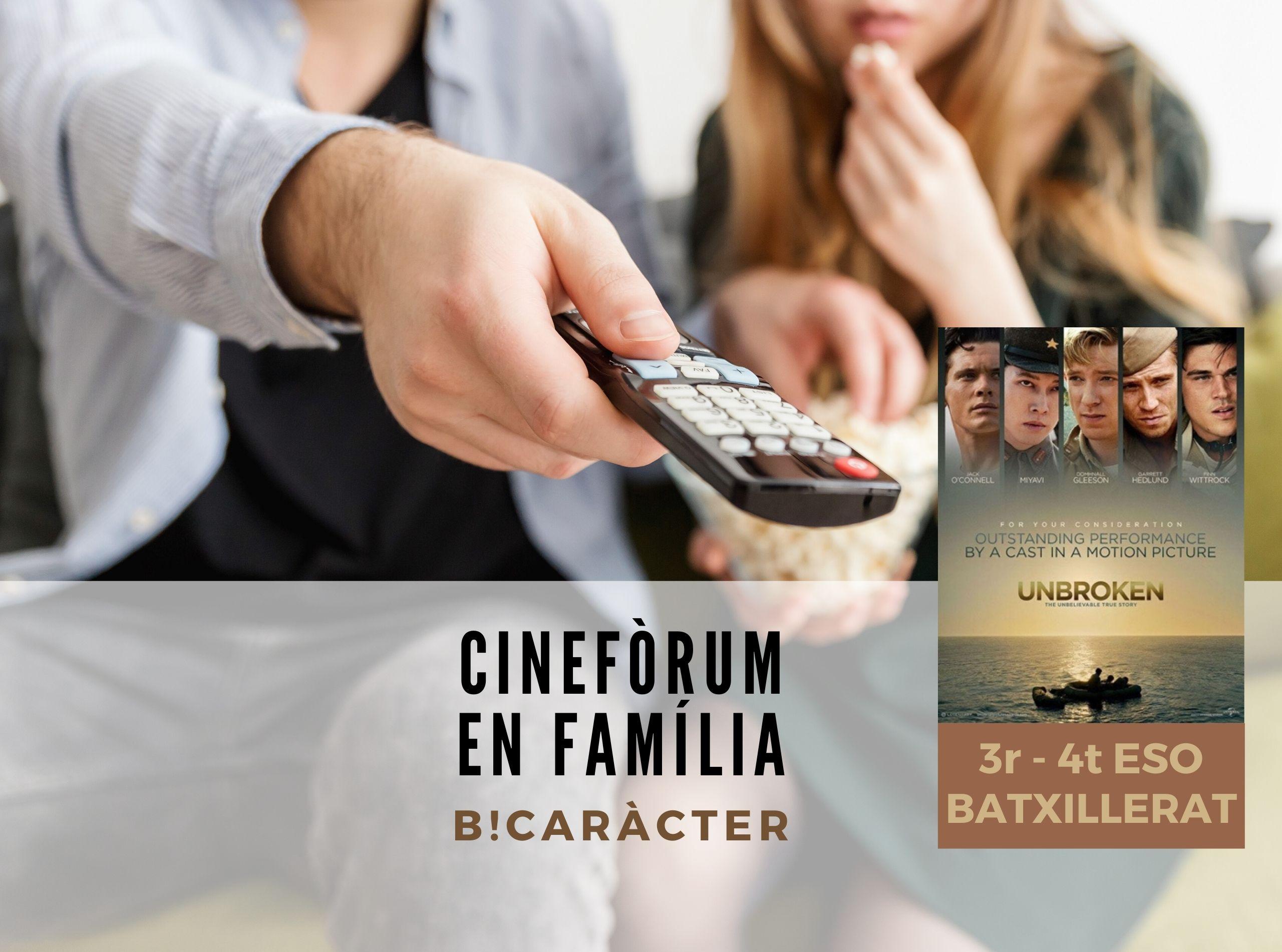 Cinefòrum en família per a 3r i 4t d'ESO i Batxillerat: Invencible (Unbroken)
